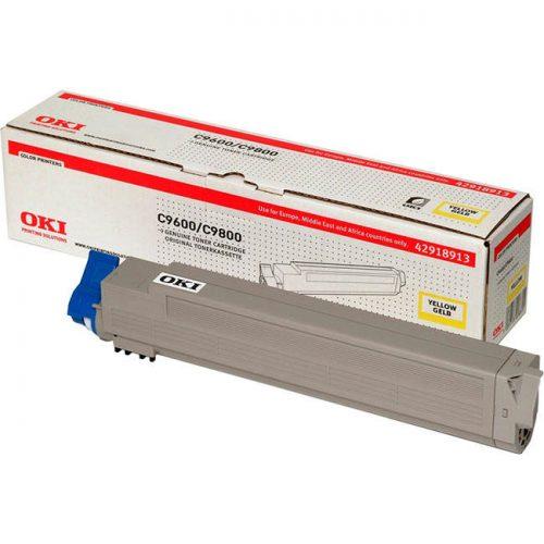 Oki C9600 Yellow Laser Toner