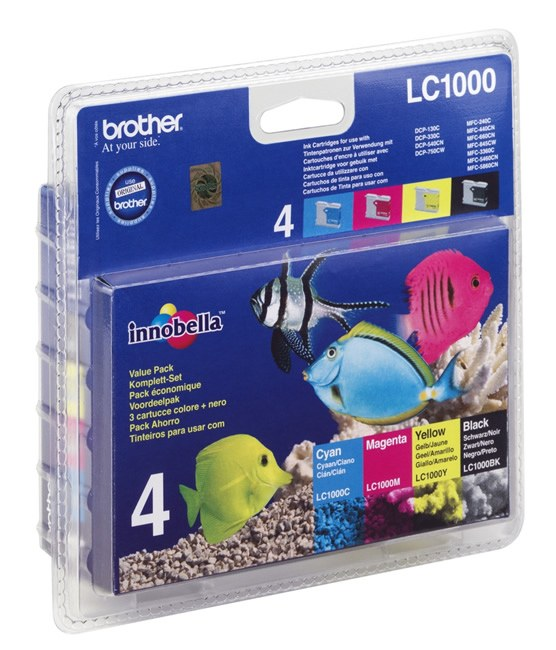 Brother LC1000 Ink Cartridge Multipack