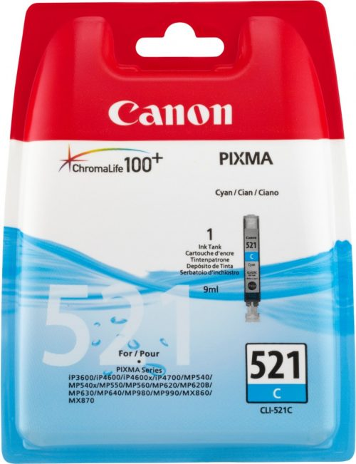 Canon 521C Cyan Ink Cartridge