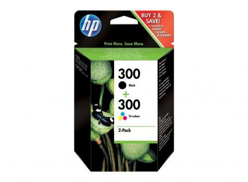 HP 300 Black Tri-Colour Ink Cartridge