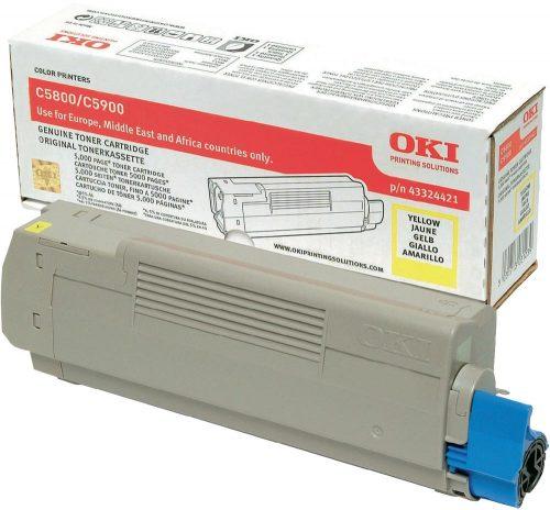 Oki C5800 Yellow Laser Toner