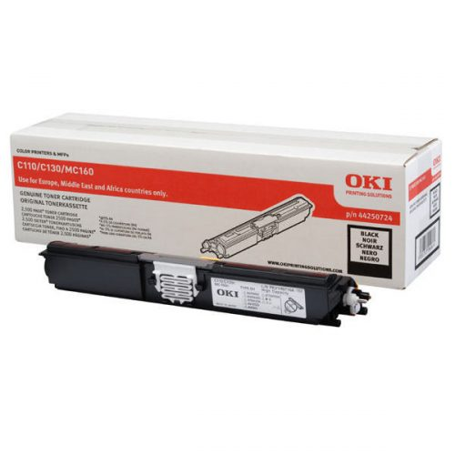 Oki C110 Black Toner Cartridge