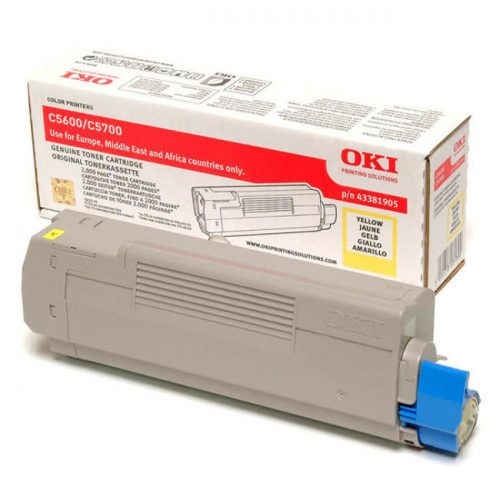 Oki C5700-C5600 Yellow Toner Cartridge