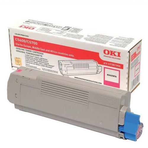 Oki C5600/C5700 Magenta Toner Cartridge